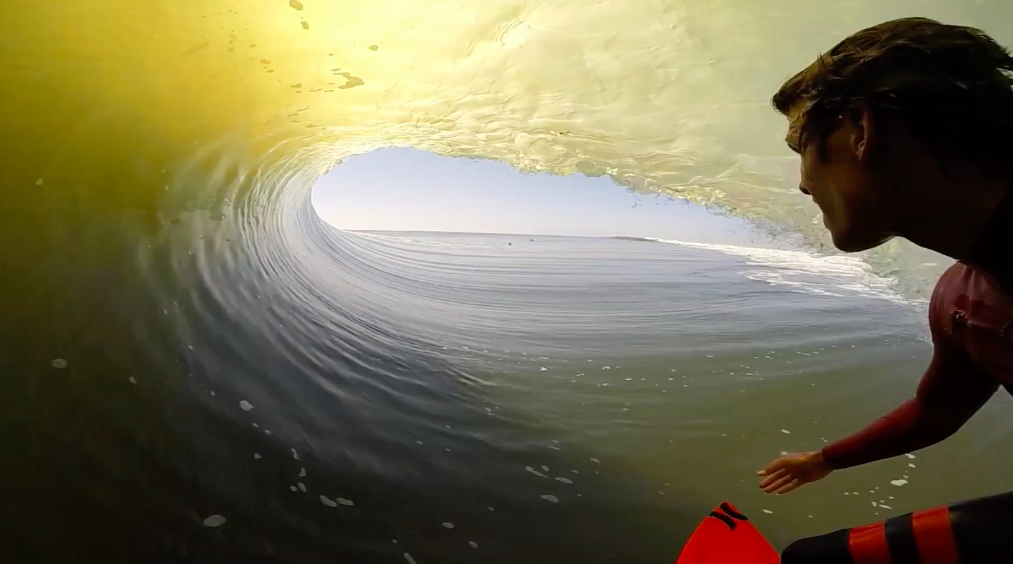 Longest barrel with Koa Smith in skeleton bay