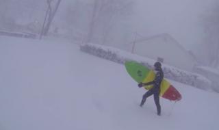Blizzard surfing