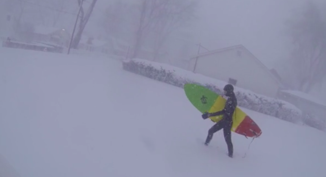 Blizzard surfing
