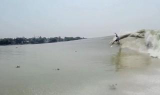 ガンジス川サーフィン