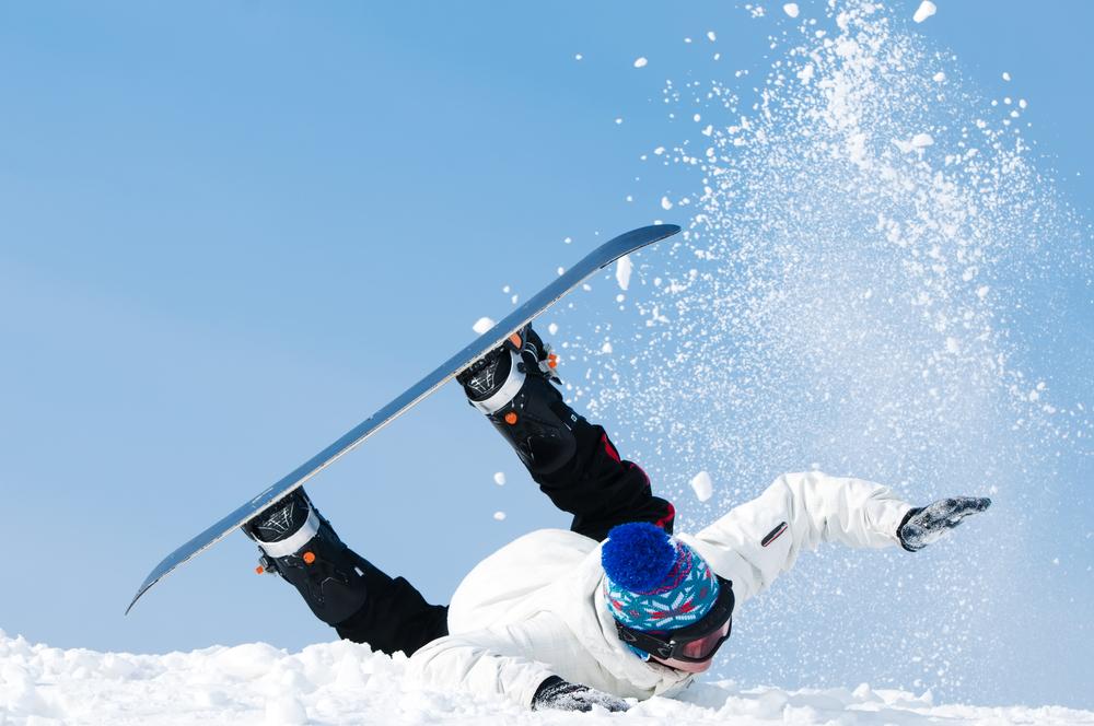 スノーボード こける