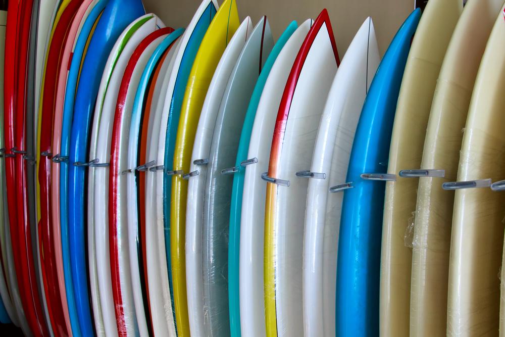 サーフボードたくさん