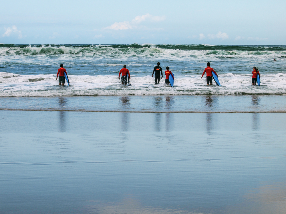 サーフィン 教わる
