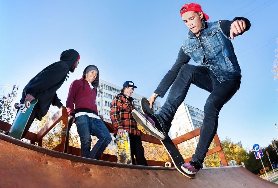 スケートボード仲間