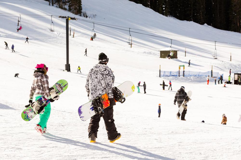 スキー場 歩く