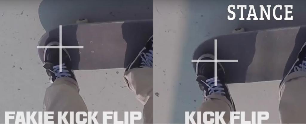 25 fakie kick flip stanceスクリーンショット 2017-01-31 17.55.46